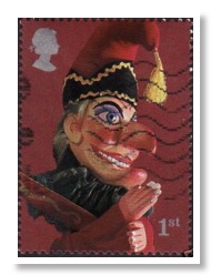 punch and judy old stamp